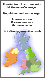 Rosette Contact information: Cottage Rosettes North Yorkshire
